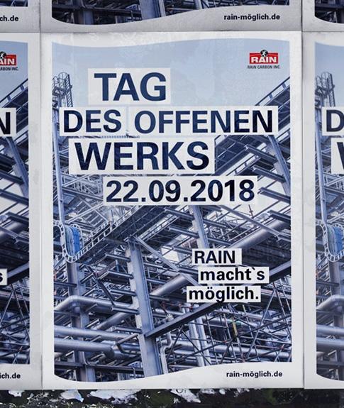 Werbung Tag der offenen Tür Plakat