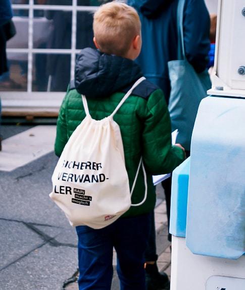 Werbung Tag der offenen Tür Rucksack
