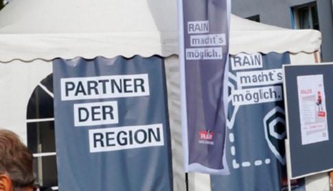 Werbung Tag der offenen Tür Banner Zeltbanner