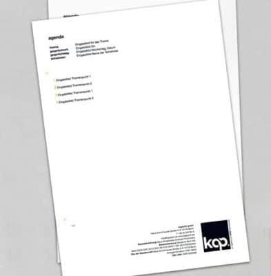 Corporate Design Werbeagentur Kapacht Brief